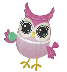 Girl Owl embroidery design