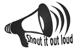Shout It Out embroidery design