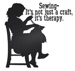 Sewing Therapy embroidery design