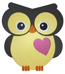 Owl With Heart embroidery design