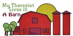 Therapist Lives In Barn embroidery design