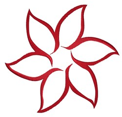 Red Flower Outline embroidery design