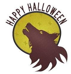 Happy Halloween Werewolf embroidery design