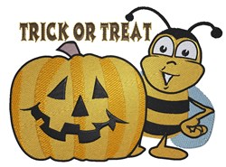 Trick Or Treat Bee embroidery design