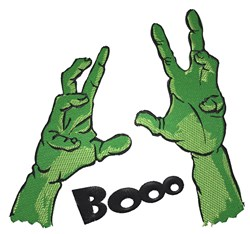 Zombie Hands Booo embroidery design