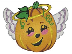 Pumpkin Angel embroidery design