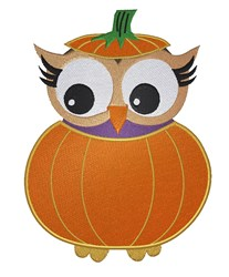 Owl In Pumpkin embroidery design