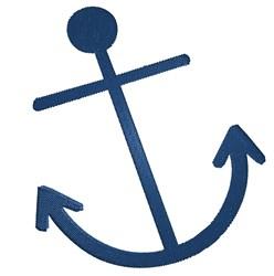 Big Blue Anchor embroidery design