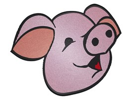 Cute Pig head embroidery design