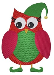 Christmas Elf Owl embroidery design