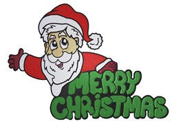 Merry Christmas Santa embroidery design