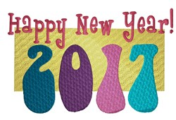 Celebrate The New Year embroidery design