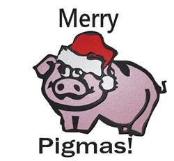 Merry Pigmas embroidery design
