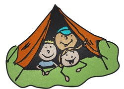 Camp Kids embroidery design