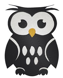 Owl Silhouette embroidery design