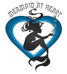 Mermaid At Heart embroidery design