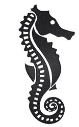 Seahorse Silhouette embroidery design