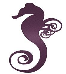 Swirl Seahorse embroidery design