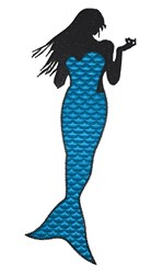 Mermaid Silhouette embroidery design