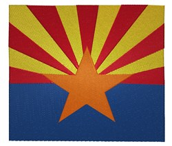 Arizona Flag embroidery design