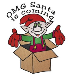 Santa Is Coming embroidery design