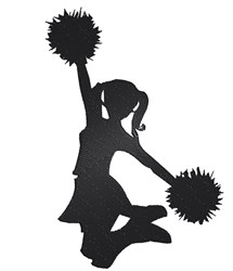 Cheerleader Silhouette embroidery design