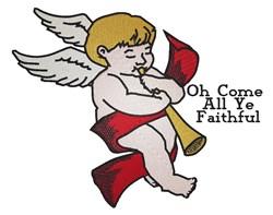 Christmas Angel Ye Faithful embroidery design