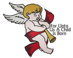 Christmas Angel Child embroidery design