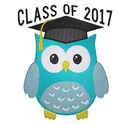 Graduating Owl 2017 embroidery design