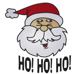 Funny Santa Head embroidery design