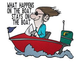 On The Boat embroidery design
