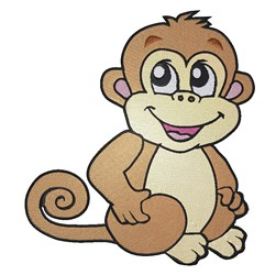 Cartoon Monkey embroidery design
