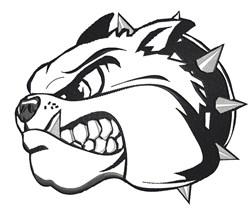 Mean Bulldog Head embroidery design