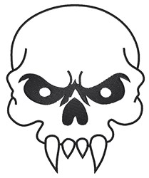 Skull Outline embroidery design