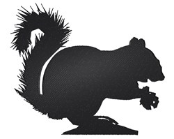 Squirrel Silhouette embroidery design