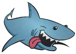 Cartoon Shark embroidery design