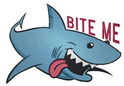 Bite Me Shark embroidery design