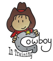 Cowboy In Training embroidery design