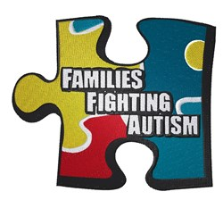 Fighting Autism Puzzle embroidery design