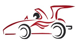 Racing Car Outline embroidery design