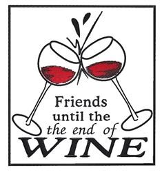 Wine Glasses embroidery design