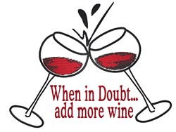 More Wine In Glass embroidery design