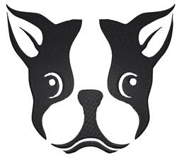 Boston Terrier Stencil embroidery design