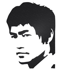 Bruce Lee embroidery design