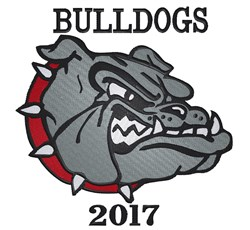 Bulldog 2017 embroidery design