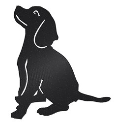 Beagle Silhouette embroidery design