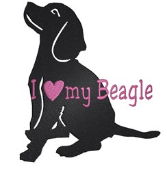 Beagle Love embroidery design