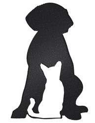 Cat And Dog Silhouette embroidery design