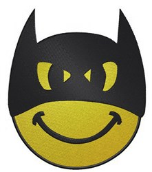 Batman Smiley Face embroidery design