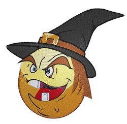 Witch  Smiley embroidery design